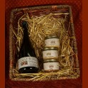 gift basket of jars of vegetarian pates